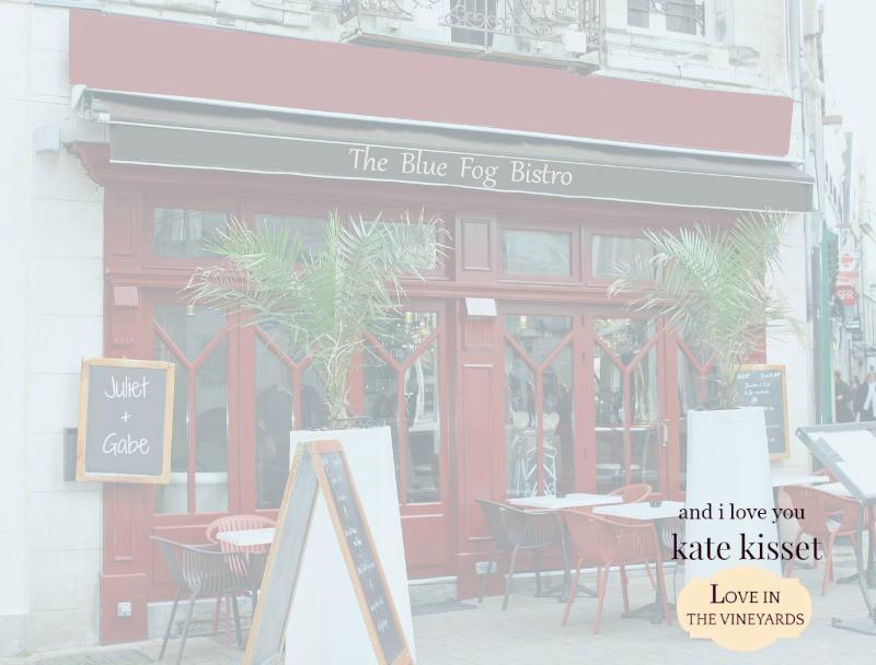 Gabe's restaurant, the Blue Fog Bistro, And I Love You, Kate Kisset