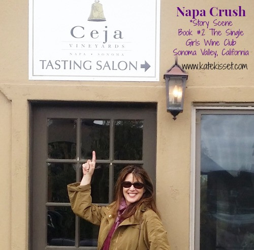 Kate Kisset, Wine Country Romance author, Ceja Vineyards