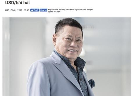 Tỷ phú Hoàng Kiều đòi Sky Music trả tác quyền 150.000 USD/bài hát