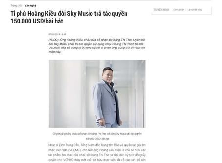 Tỉ phú Hoàng Kiều đòi Sky Music trả tác quyền 150.000 USD/bài hátnning Blog