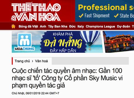 Cuộc chiến tác quyền âm nhạc: Gần 100 nhạc sĩ 'tố' Công ty Cổ phần Sky Music vi phạm quyền tác giả