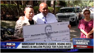 From 'American dream' story to generous Harvey relief donor