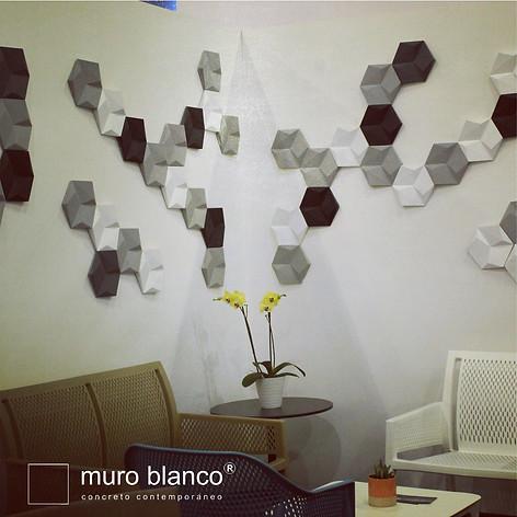 Loseta concreto Diamond color gris palombo, gris grafito, negro y blanco. Expo Abastur CDMX G