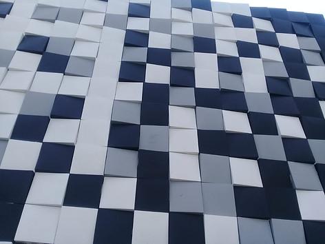 Loseta Mosk 20x20 color Gris, Blanco y Negro, Chiapas