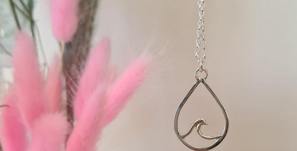Teardrop Wave Necklace