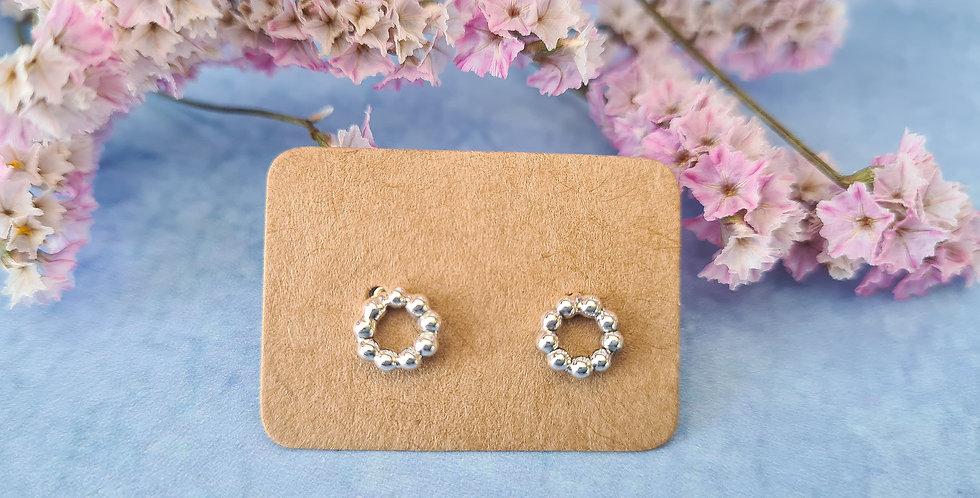 Small Circle Beaded Stud Earrings