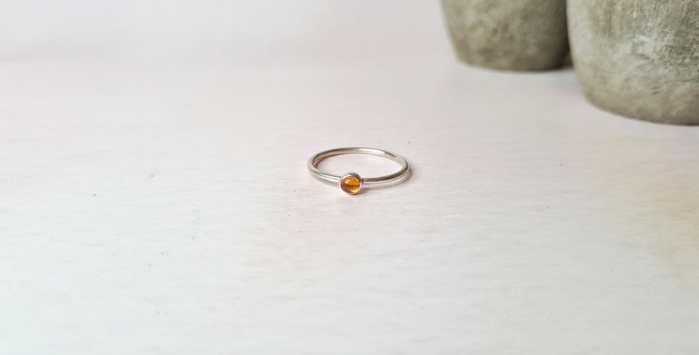 Citrine stackable ring size O 1/2