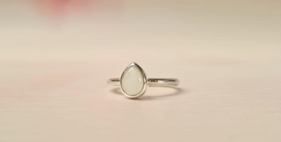 Moonstone teardrop ring size N 1/2