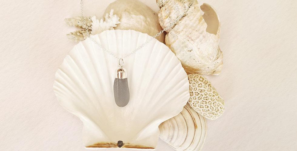 Lilac sea glass necklace