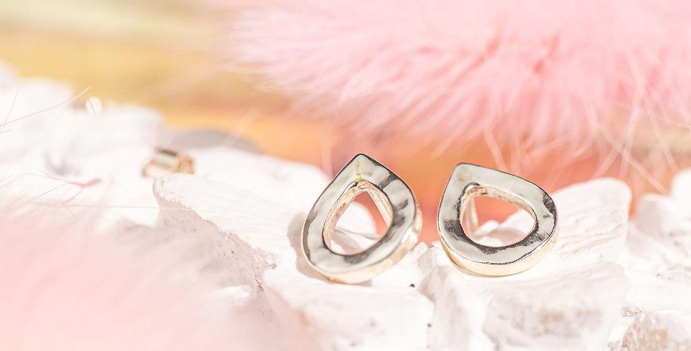 Handmade Eco-silver Teardrop Stud Earrings