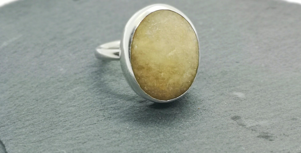 Sterling silver stone ring size O
