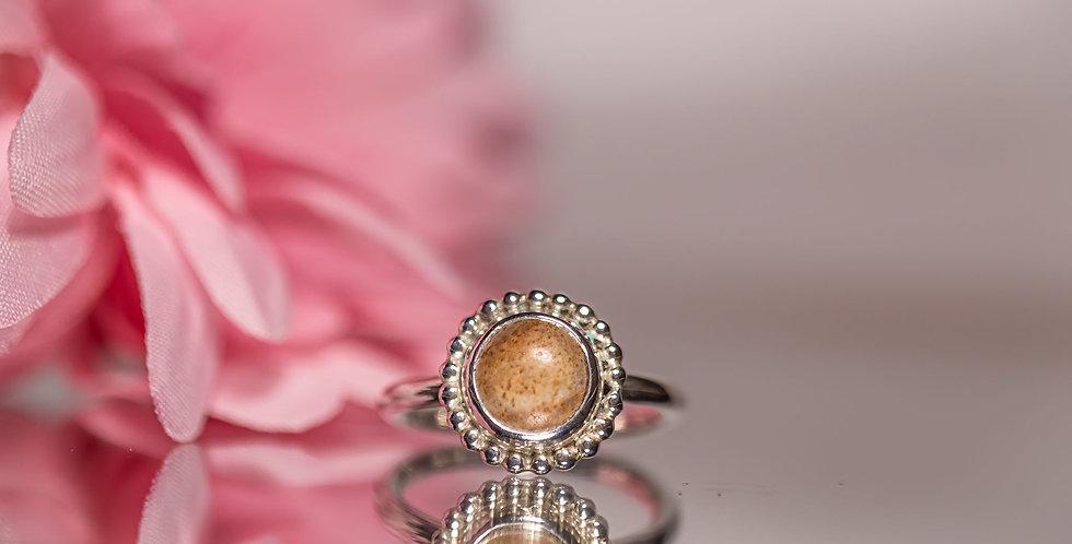 Picture Jasper Beaded Ring