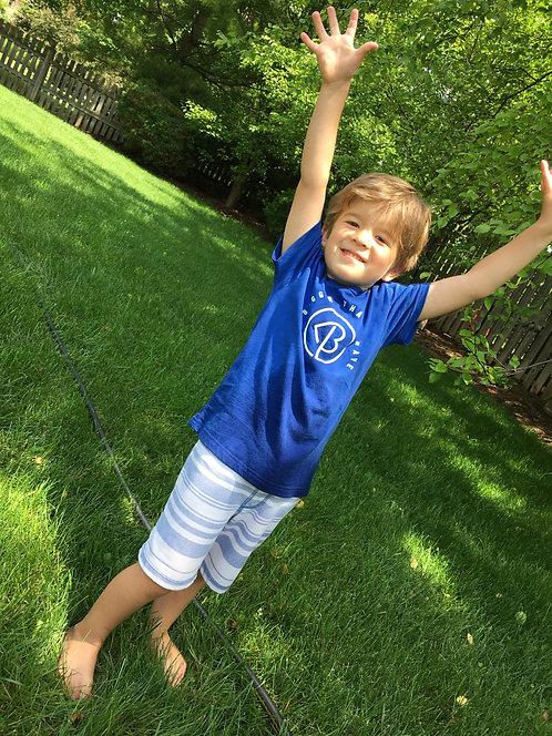 Be Brooks Brave-Toddler V-Neck Shirt (Blue)