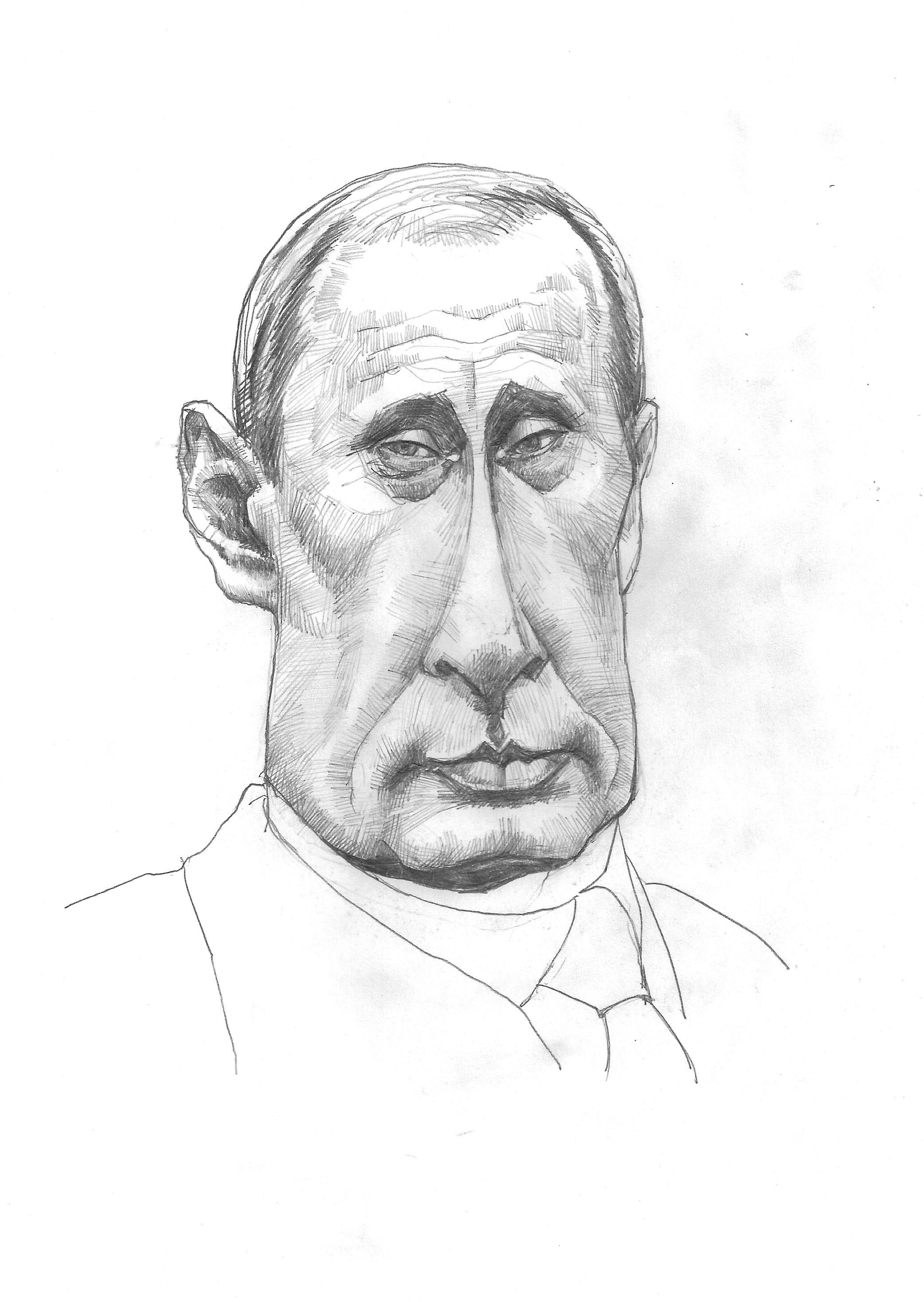 Vladimir Putin sketchbook