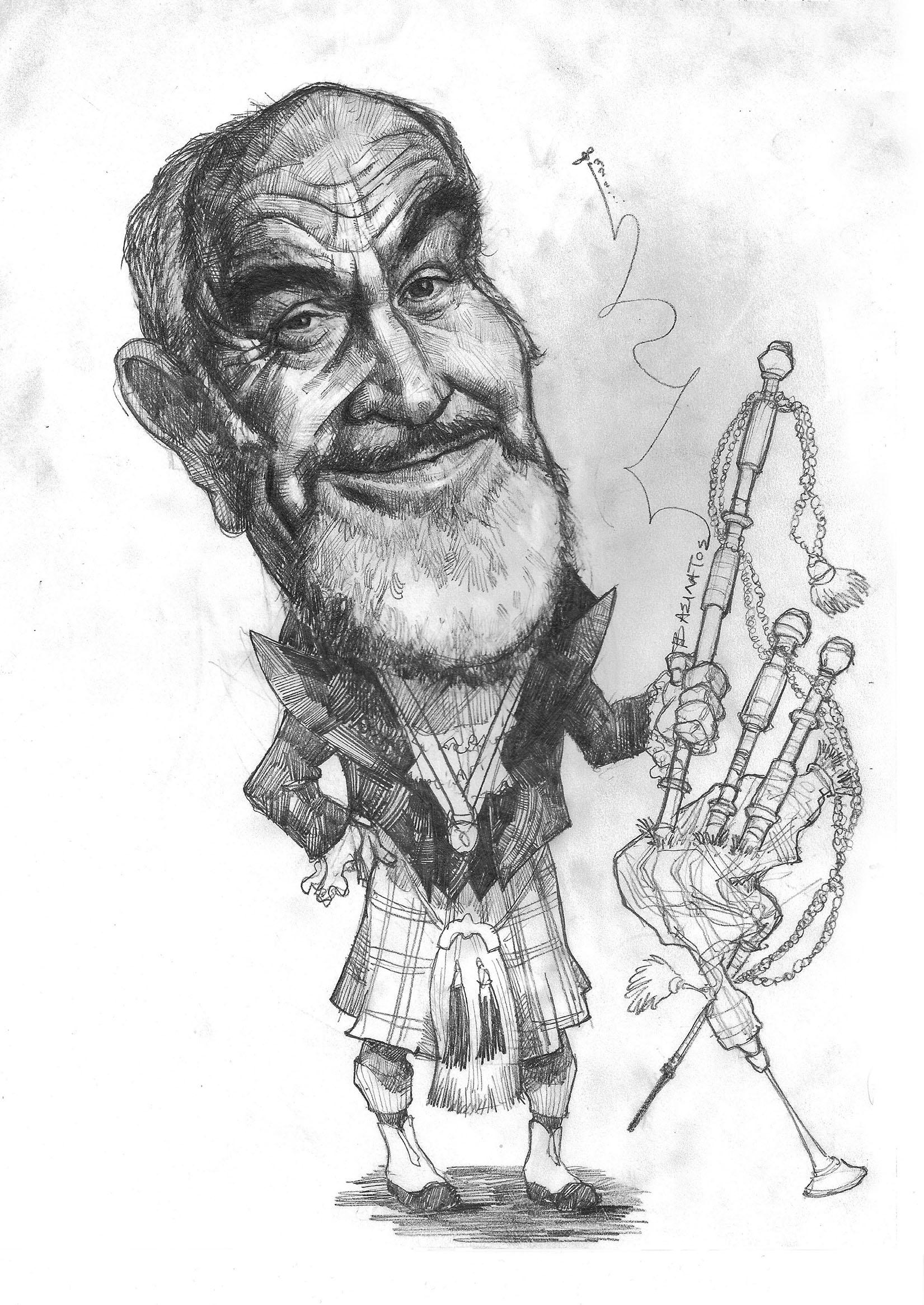 Sean Connery sketchbook