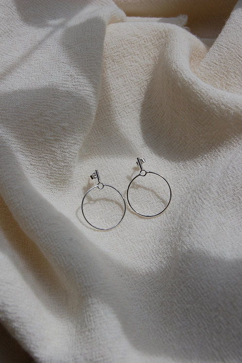 Recycled Sterling Silver Geo Studs
