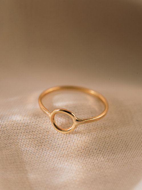 The Solid Recycled Gold Full Moon Ring