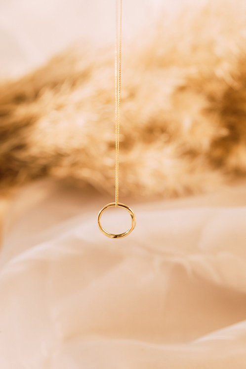 The Recycled Solid Gold Twist Hoop Necklace
