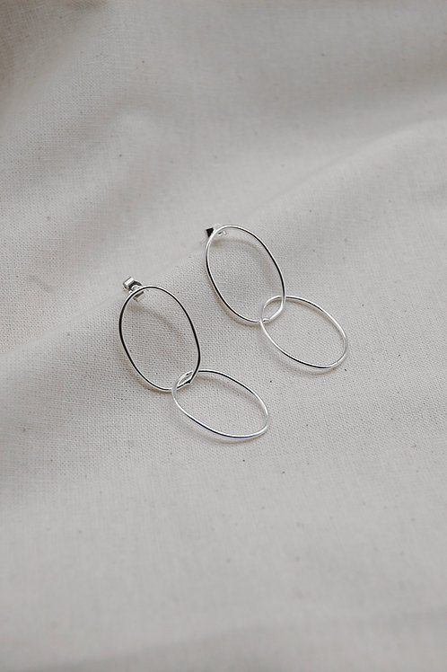 Minimal Double Hoop Earrings