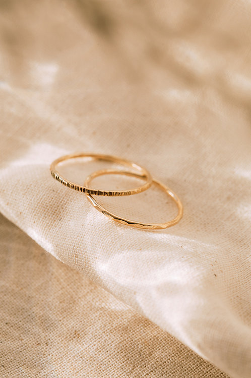 The Dainty Recycled Solid Gold Sparkle Stacker Ring