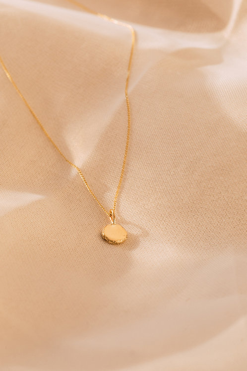 The Recycled Solid Gold Mini Ingot Necklace
