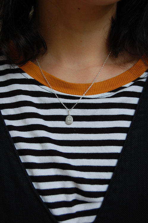 Personalised Recycled Ingot Necklace