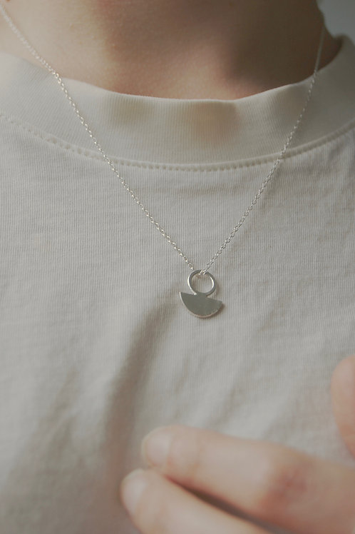 Silver Intersecting Geo Necklace