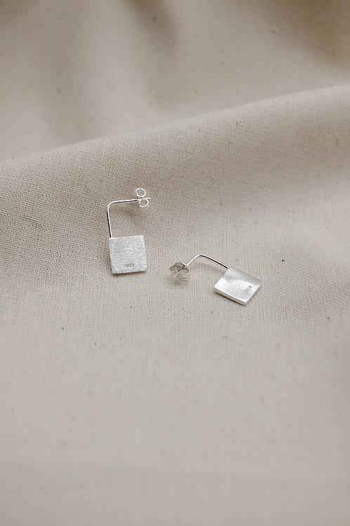 Minimal Square Padlock Earrings