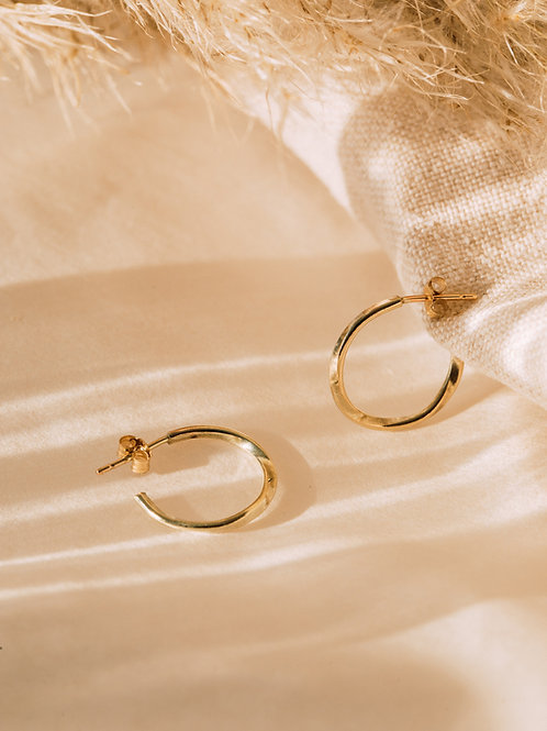 The Recycled Solid Gold Twist Hoops