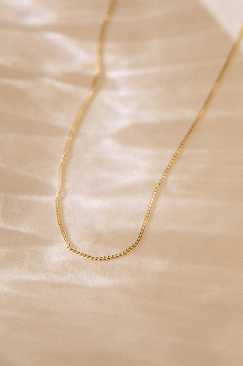 The Recycled Solid Gold 'Barely There' Chain