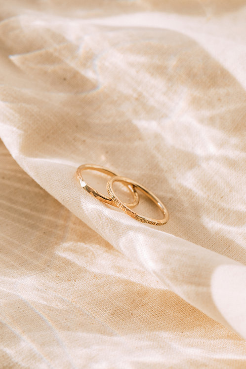 The Chunky Solid Recycled Gold Stacker Ring
