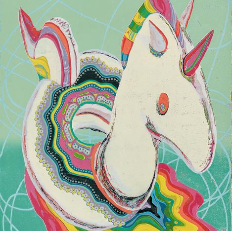 充氣小色馬 · Inflatable Colourful Pony