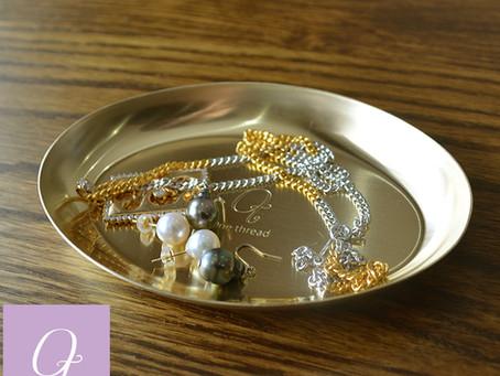 ソリッドブラス 真鍮オーバルトレイ