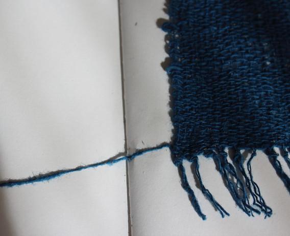 「あおの[カディ綿糸 蒅 / Khadi cotton thread, sukumo indigo]