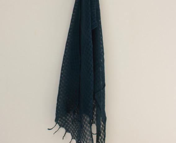 ストール(麻/レーヨン)Scarf (linen/rayon) [蒅 マリーゴールド / sukumo indigo, marigold] 2020/10