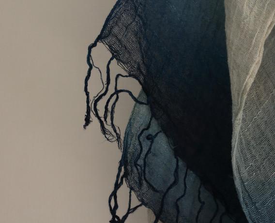 ストール(麻/レーヨン)Scarf (linen/rayon) [蒅 , sukumo indigo] 2020/10