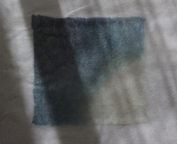 [綿布 蒅 和紙 / cotton, sukumo indigo, Japanese washi paper]