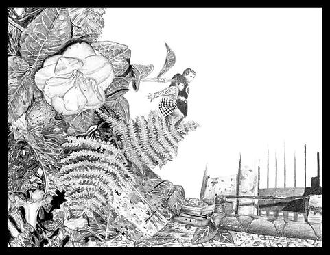 Framed poster - Landscapes of the mind (small)