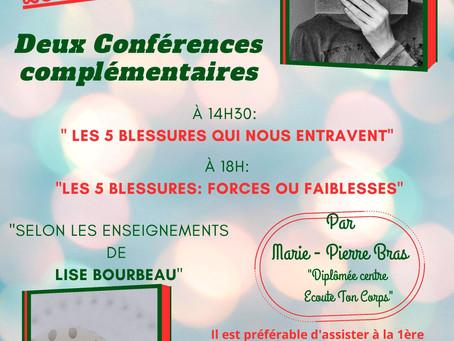 Conférences: Marie Pierre Bras