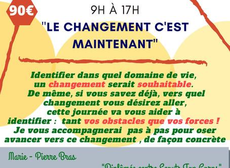 Le changement c'est maintenant!