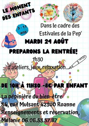 3. 24Août - Préparons la rentrée enfants