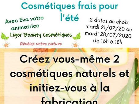Ateliers: Fabrication de cosmétiques pour l'été