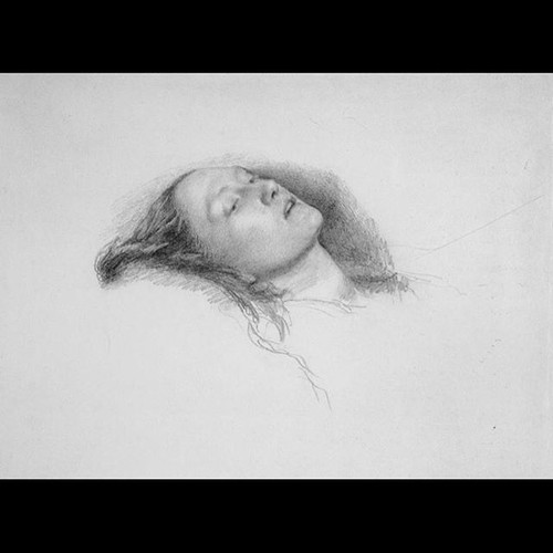 "Study sketch for Sir. John Everett Millais' ""Ophelia"""