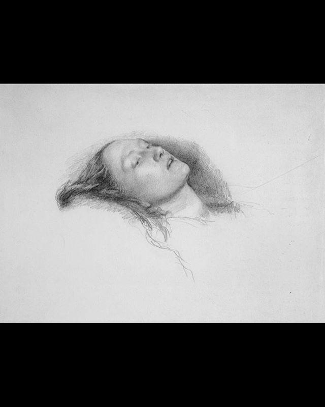 "Study sketch for Sir. John Everett Millais' ""Ophelia"""