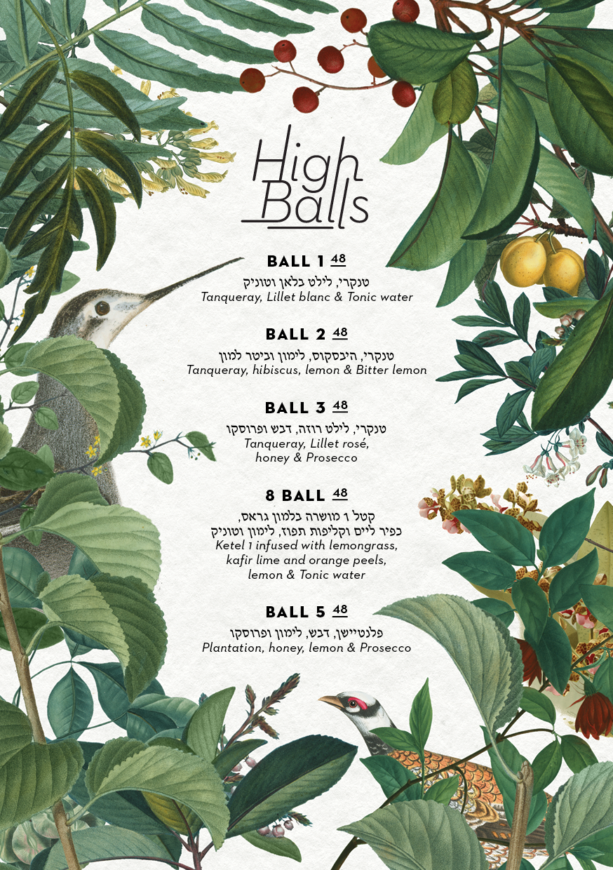 Johns Highballs Menu