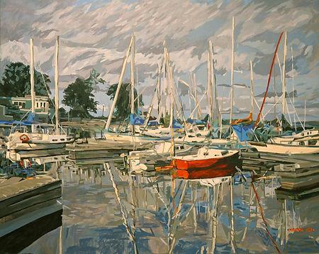 小镇的港湾_The Harbour of the Small Town_24X3