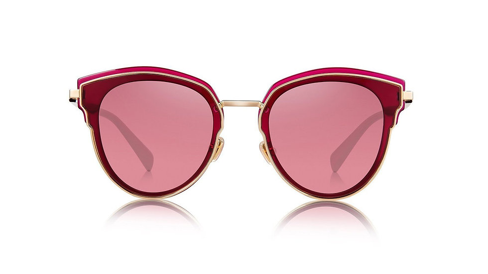 Bolon Eyewear Lentes de Sol Carla 6057 Marco Rojo Vista de Frente