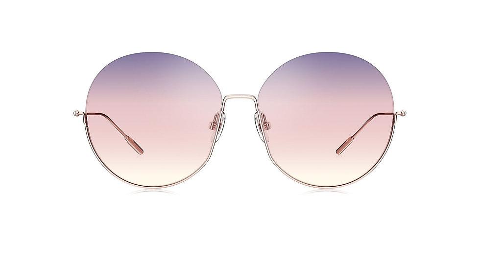 Bolon Eyewear BL7059 Gafas de Sol GROOVE Gradient Tri Color Round Shape Front View