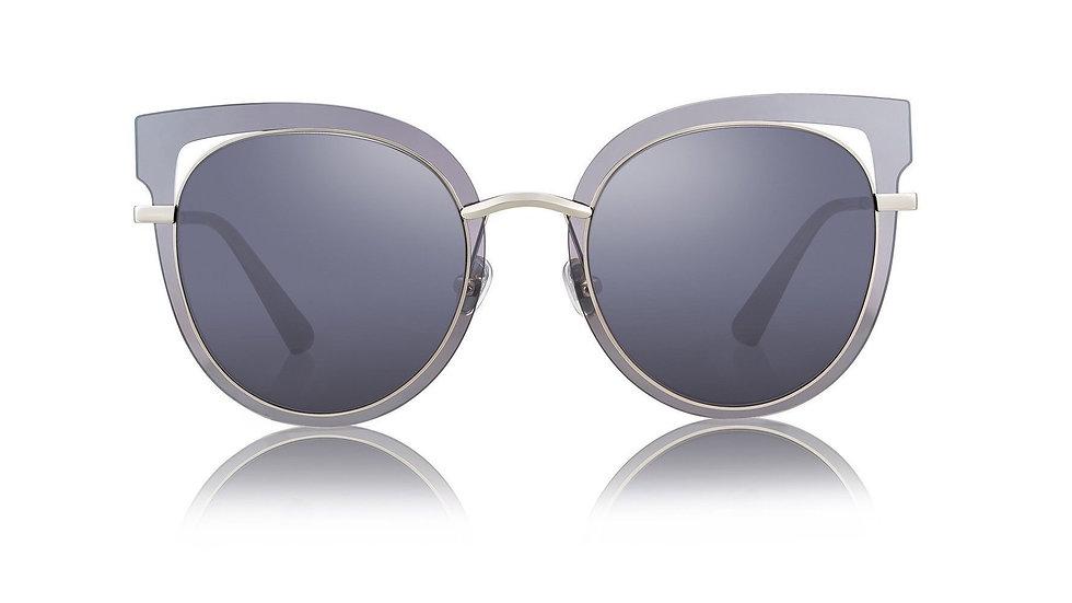 Bolon Eyewear BL7013 gafas de sol CAT EYE Gray Frame Front View