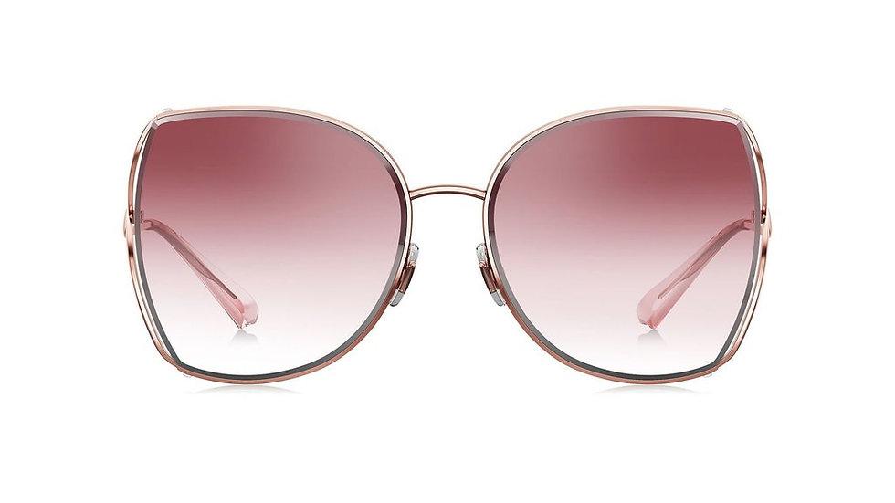 Bolon BL7082 gafas de sol Pink gradiente lente forma cuadrada vista de frente